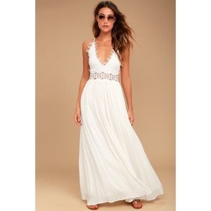 Lulu's This is Love White Maxi Dress